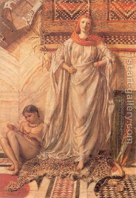 Dancing Girl Resting by Albert Joseph Moore - Reproduction Oil Painting