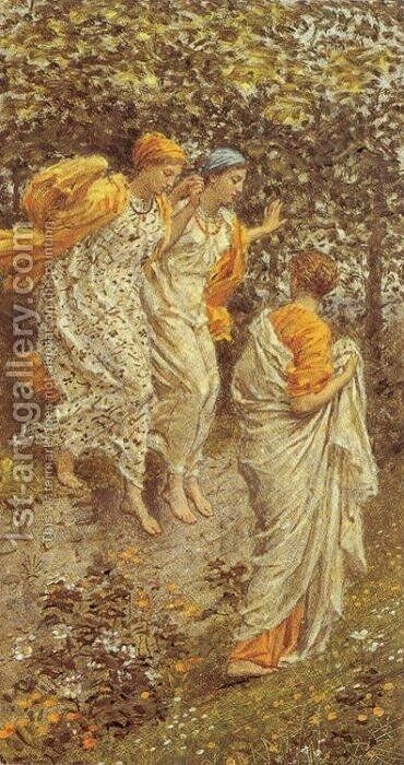 Kingcups by Albert Joseph Moore - Reproduction Oil Painting