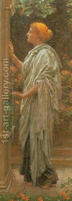The Fountain by Albert Joseph Moore - Reproduction Oil Painting