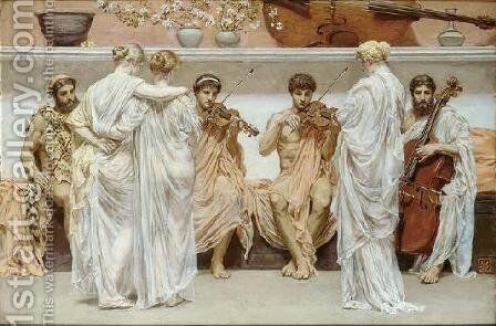 The Quartet by Albert Joseph Moore - Reproduction Oil Painting