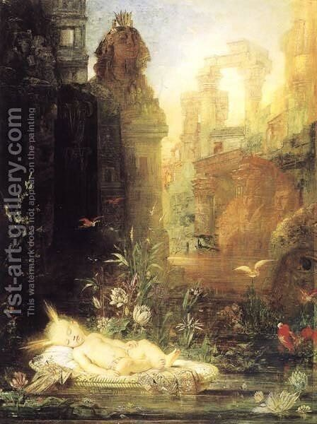 Moses by the Nile by Gustave Moreau - Reproduction Oil Painting