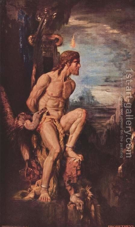 Prometheus by Gustave Moreau - Reproduction Oil Painting