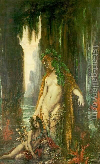 The Poet and the Siren by Gustave Moreau - Reproduction Oil Painting