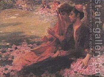 Roses by Henry Siddons Mowbray - Reproduction Oil Painting