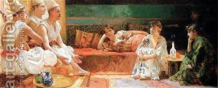 The Calendars by Henry Siddons Mowbray - Reproduction Oil Painting