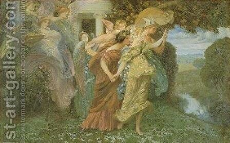The Marriage of Persephone by Henry Siddons Mowbray - Reproduction Oil Painting