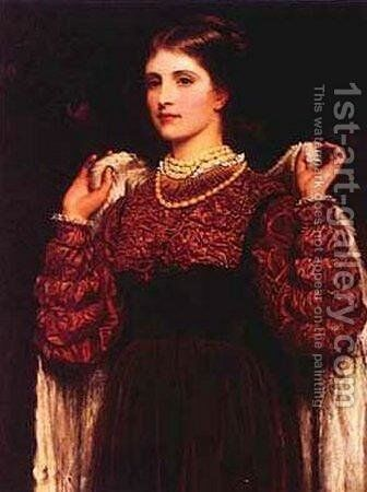 Dressing Up by Charles E. Perugini - Reproduction Oil Painting