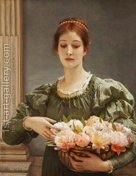 Peonies by Charles E. Perugini - Reproduction Oil Painting