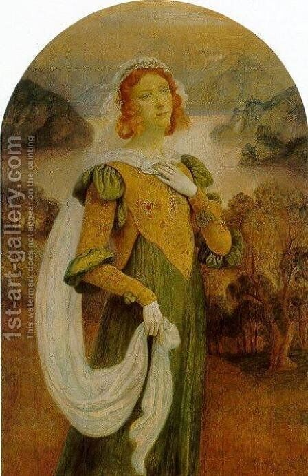 Autumn Princess by Armand Point - Reproduction Oil Painting