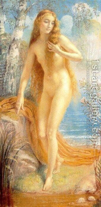 The Bather by Armand Point - Reproduction Oil Painting