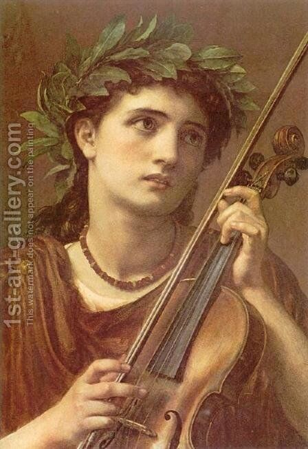 Music, Heavenly Maid by Sir Edward John Poynter - Reproduction Oil Painting