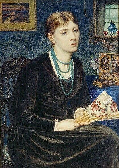 Portrait of Louise A. Baldwin by Sir Edward John Poynter - Reproduction Oil Painting