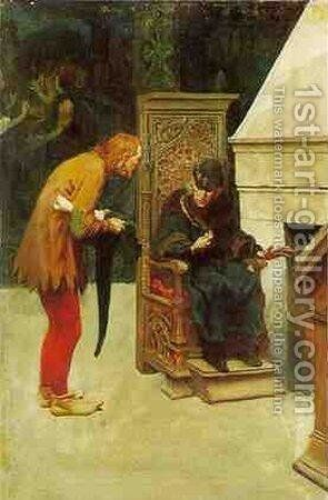 The Poet and the King by Howard Pyle - Reproduction Oil Painting