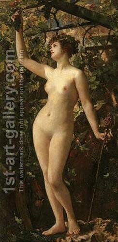 A Bacchante I by Henrietta Rae (Mrs. Ernest Normand) - Reproduction Oil Painting