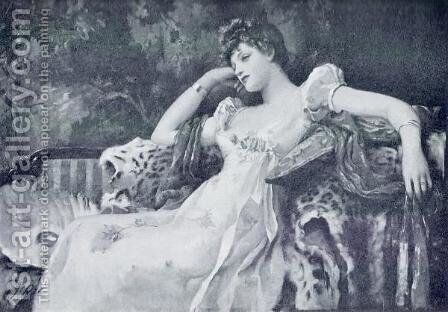 A Reverie by Henrietta Rae (Mrs. Ernest Normand) - Reproduction Oil Painting