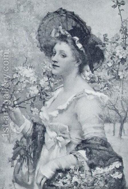 Apple-Blossom by Henrietta Rae (Mrs. Ernest Normand) - Reproduction Oil Painting