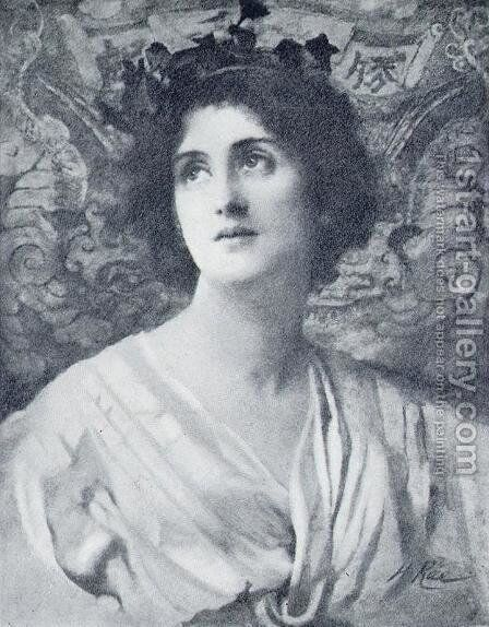 Her Eyes are Homes of Silent Prayer by Henrietta Rae (Mrs. Ernest Normand) - Reproduction Oil Painting
