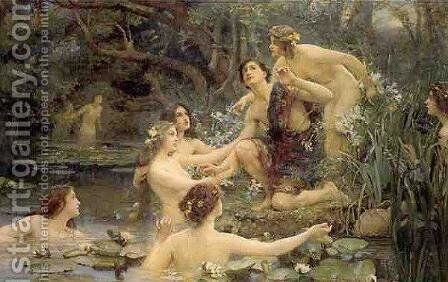 Hylas and the Water Nymphs by Henrietta Rae (Mrs. Ernest Normand) - Reproduction Oil Painting