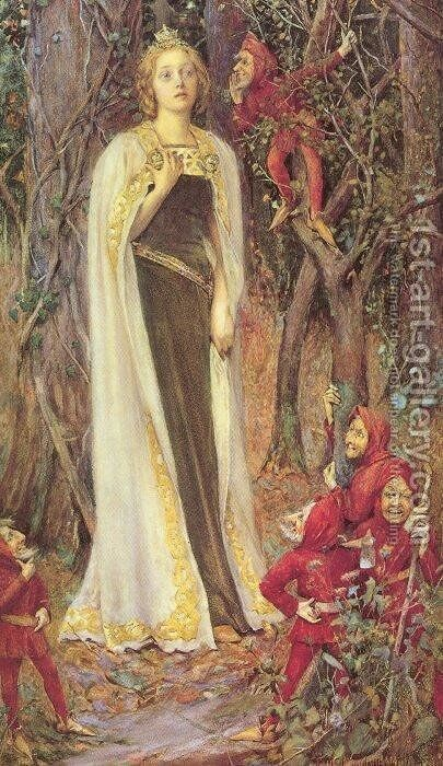 Once upon a Time by Henry Meynell Rheam - Reproduction Oil Painting