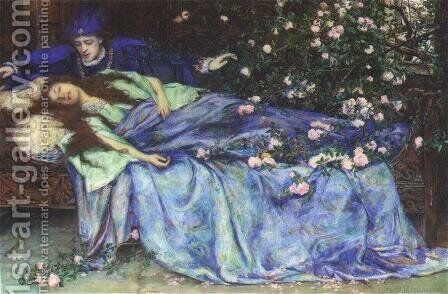 Sleeping Beauty by Henry Meynell Rheam - Reproduction Oil Painting