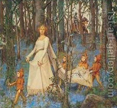 The Fairy Wood by Henry Meynell Rheam - Reproduction Oil Painting