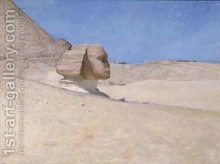 The Sphinx at midday in Summer by Sir William Blake Richmond - Reproduction Oil Painting