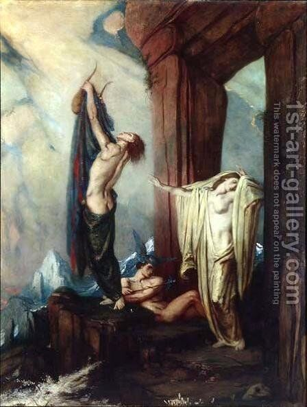 Orpheus and Eurydice by Charles De Sousy Ricketts - Reproduction Oil Painting