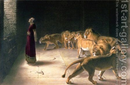 Daniel's Answer to the King by Briton Rivière - Reproduction Oil Painting