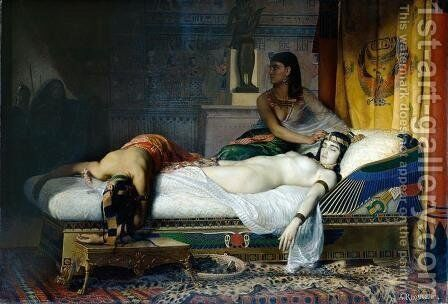 The Death of Cleopatra by Jean André Rixens - Reproduction Oil Painting