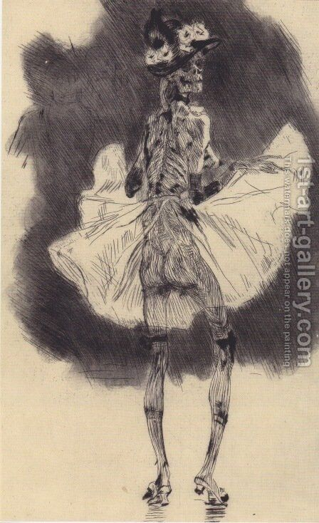 Dancing Death by Felicien Rops - Reproduction Oil Painting
