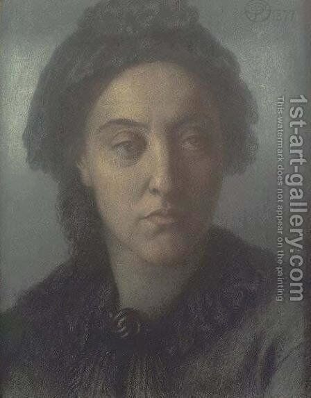 Christina Rossetti 2 by Dante Gabriel Rossetti - Reproduction Oil Painting