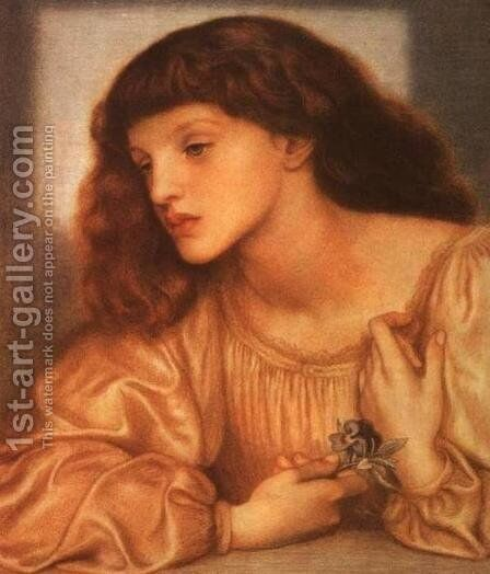 May Morris I by Dante Gabriel Rossetti - Reproduction Oil Painting