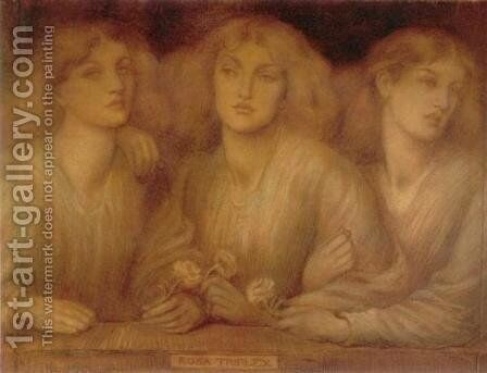 Rosa Triplex by Dante Gabriel Rossetti - Reproduction Oil Painting