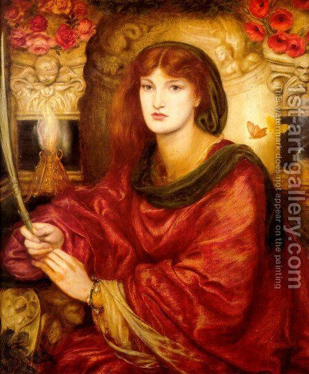 Sibylla Palmifera by Dante Gabriel Rossetti - Reproduction Oil Painting
