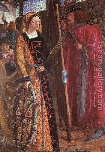 St Catherine by Dante Gabriel Rossetti - Reproduction Oil Painting