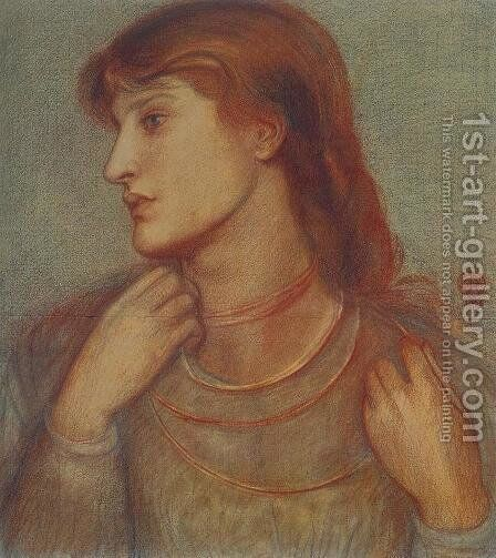 Study of Alexa Wilding by Dante Gabriel Rossetti - Reproduction Oil Painting