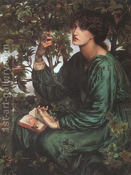 The Day Dream by Dante Gabriel Rossetti - Reproduction Oil Painting