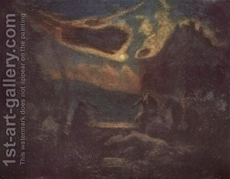 Macbeth and the Witches by Albert Pinkham Ryder - Reproduction Oil Painting