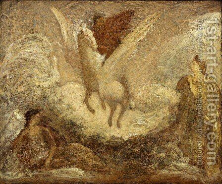 Pegasus by Albert Pinkham Ryder - Reproduction Oil Painting