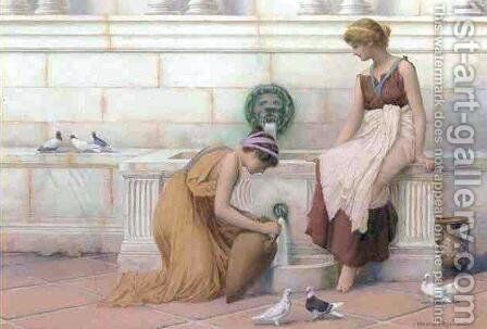 At the Fountain I by Henry Ryland - Reproduction Oil Painting
