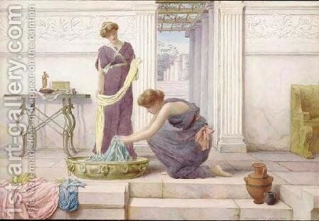 Household Duties by Henry Ryland - Reproduction Oil Painting