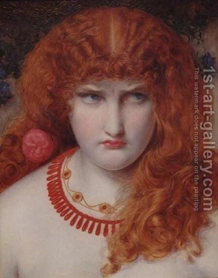 Helen of Troy by Anthony Frederick Sandys - Reproduction Oil Painting