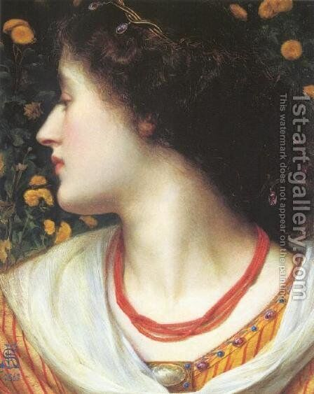 La Belle Isolde by Anthony Frederick Sandys - Reproduction Oil Painting