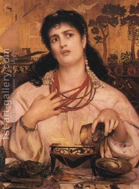 Medea by Anthony Frederick Sandys - Reproduction Oil Painting