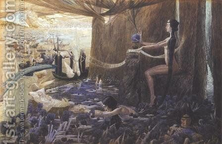 Destiny by Carlos Schwabe - Reproduction Oil Painting