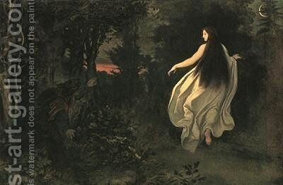 Apparition in the forest by Moritz Ludwig von Schwind - Reproduction Oil Painting