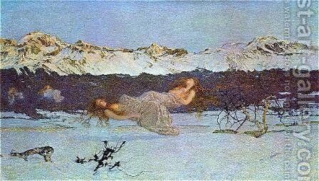 The Punishment of Lust by Giovanni Segantini - Reproduction Oil Painting