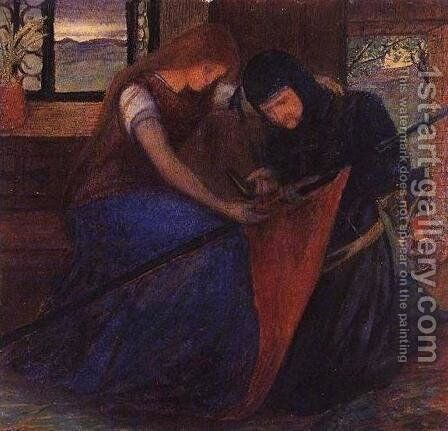 Before the Battle by Elizabeth Eleanor Siddal - Reproduction Oil Painting