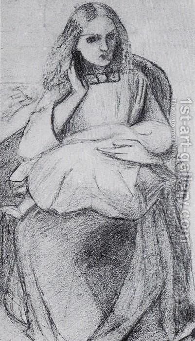 Portrait of the Artist's Sister, Clara Siddall (?) by Elizabeth Eleanor Siddal - Reproduction Oil Painting