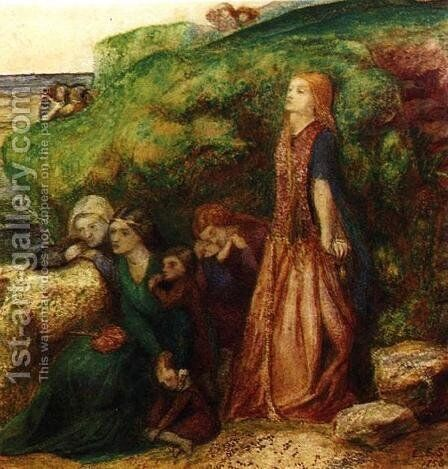 The Ladies' Lament from the Ballad of Sir Patrick Spens by Elizabeth Eleanor Siddal - Reproduction Oil Painting